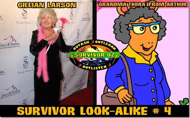 SurvivorLookAlike4_GillianLarsonGrandmaThora