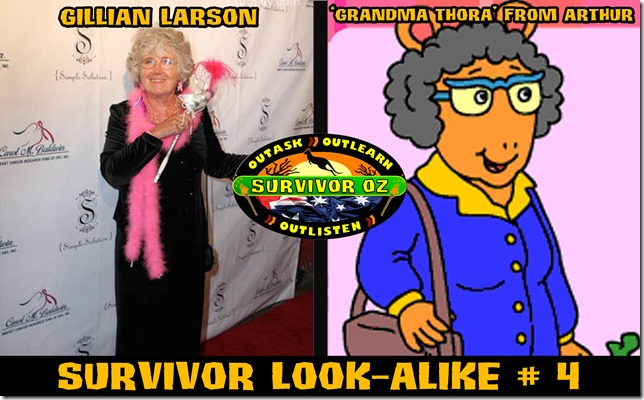SurvivorLookAlike4_GillianLarsonGrandmaThora
