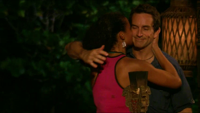 Survivor Philippines episode 5 Tribal Council Dawson hugs Jeff Probst host-groping