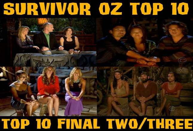 Survivor Oz Top 10-Top 10 Final Two/Three