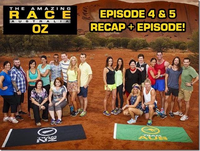 AmazingRaceOzEpisode4&5Recap
